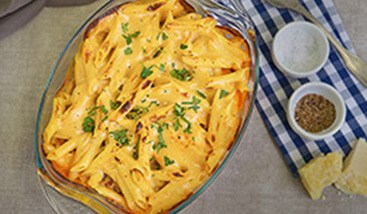 Vegetable and Four Cheese Pasta