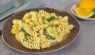 Creamy Lemon Butter Pasta with Zucchini and Peas